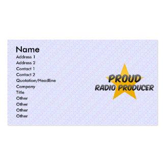 Proud Radio Producer Business Card Templates