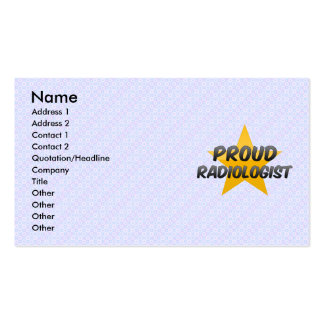 Proud Radiologist Business Card