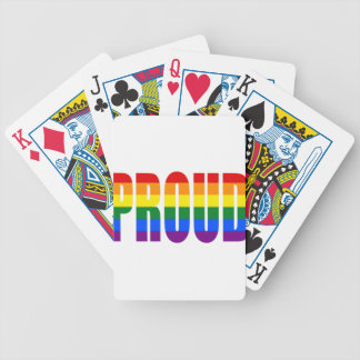 PROUD (Rainbow) Bicycle Playing Cards