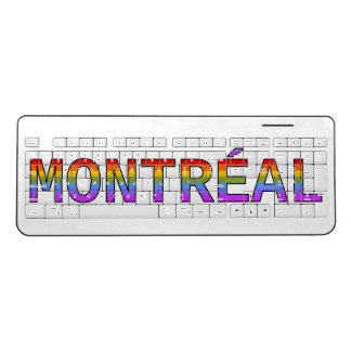 Proud Rainbow Montréal, Québec, Canada Wireless Keyboard