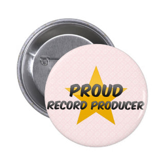 Proud Record Producer Pinback Button