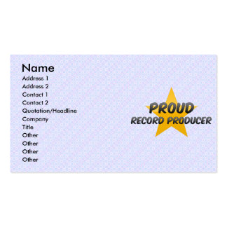 Proud Record Producer Business Card Templates