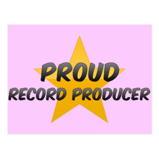 Proud Record Producer Post Card