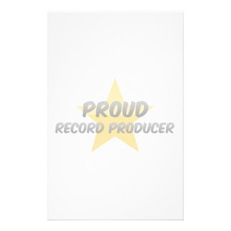 Proud Record Producer Stationery Paper