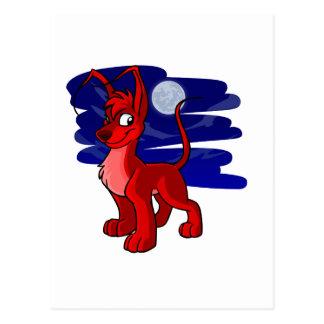 Proud red Gelert by moonlight Postcard