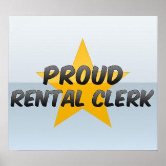Proud Rental Clerk Poster