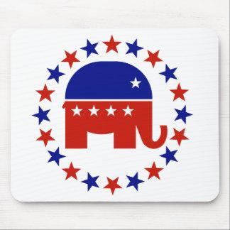 Proud Republican Circle Stars Mouse Pad
