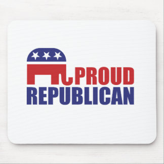 Proud Republican Elephant Mouse Pads