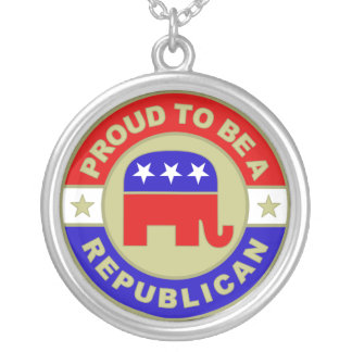 Proud Republican Necklace