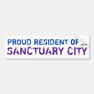 """Proud Resident"" Bumper Sticker, blue/purple Bumper Sticker"