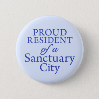 """Proud Resident"" on light blue 6 Cm Round Badge"