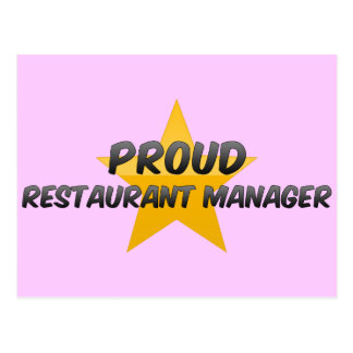 Proud Restaurant Manager Post Card
