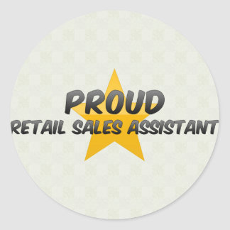 Proud Retail Sales Assistant Stickers