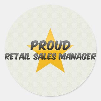 Proud Retail Sales Manager Round Sticker