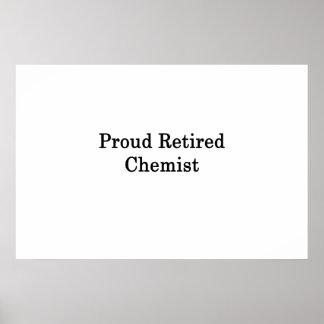 Proud Retired Chemist Poster