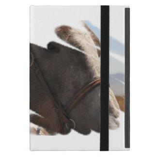 Proud Rodeo Stallion Horse Head Face Portrait iPad Mini Case