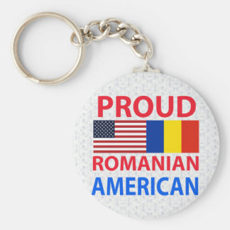 Proud Romanian American Key Ring