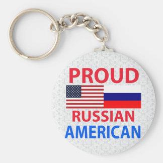 Proud Russian American Key Ring