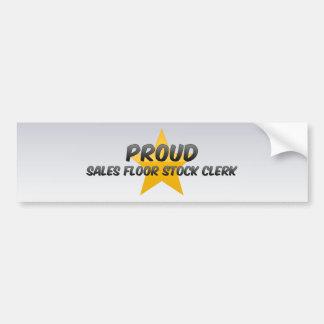 Proud Sales Floor Stock Clerk Bumper Sticker