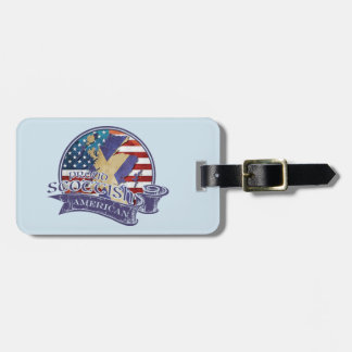 Proud Scottish American Luggage Tag Template