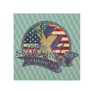 Proud Scottish American Wood Wall Art