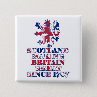 Proud Scottish and British 15 Cm Square Badge