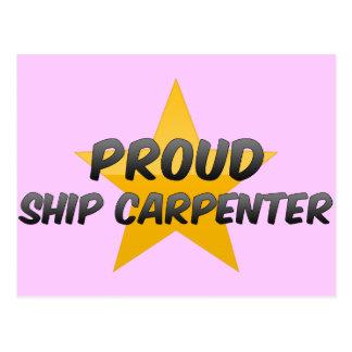 Proud Ship Carpenter Postcard