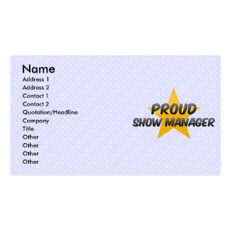 Proud Show Manager Business Card