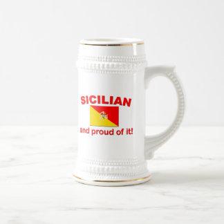 Proud Sicilian Beer Steins