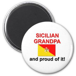 Proud Sicilian Grandpa 6 Cm Round Magnet