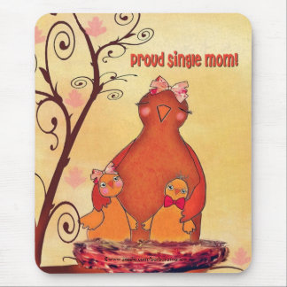proud single mom mouse pad