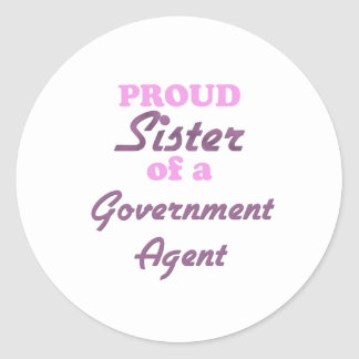 Proud Sister of a Government Agent Stickers