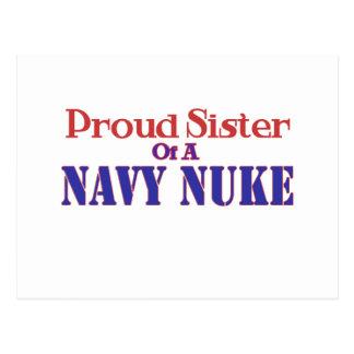 Proud Sister of a Navy Nuke Postcard