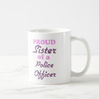 Proud Sister of a Police Officer Basic White Mug