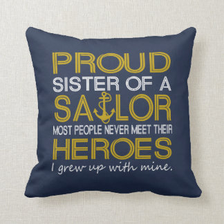 Proud sister of a sailor cushion