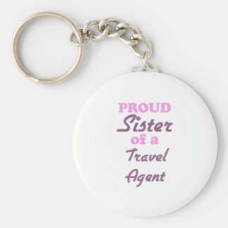 Proud Sister of a Travel Agent Key Chains