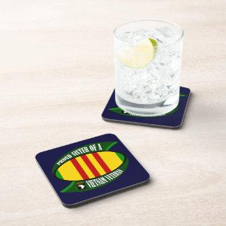 Proud Sister - Vietnam Vet Beverage Coaster