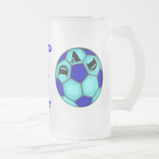 Proud Soccer Mom+ Dad Frosted Tall Mug