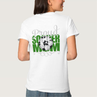 """Proud Soccer Mom in Green with """"X"""" name T-shirts"""