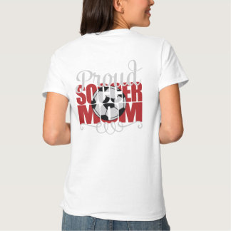 """Proud Soccer Mom in Red with """"X"""" name Tees"""