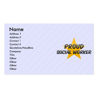 Proud Social Worker Business Card Templates