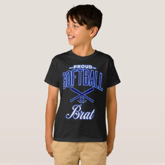 Proud Softball Brat T-Shirt (U.S.A.)