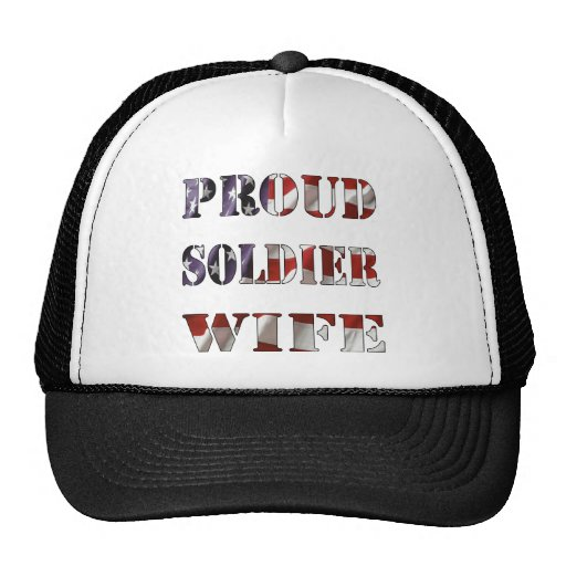 Proud Soldier Wife Mesh Hats