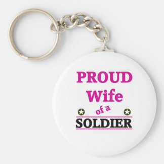 Proud soldiers Wife Keychain