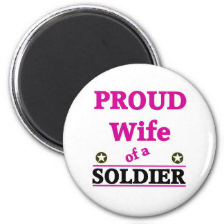 Proud soldiers Wife Refrigerator Magnet