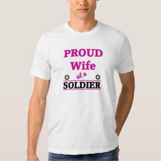 Proud soldiers wife tees