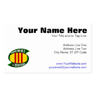 Proud Son - Vietnam Vet Pack Of Standard Business Cards