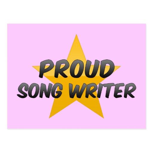 Proud Song Writer Postcard