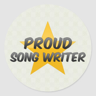 Proud Song Writer Stickers