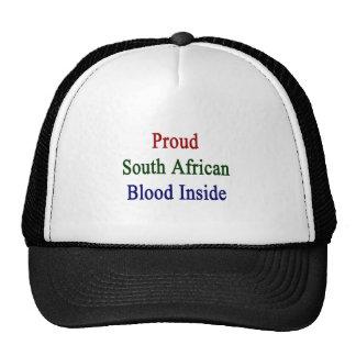 Proud South African Blood Inside Cap